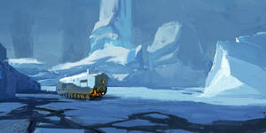 snow and bus by Joshk92