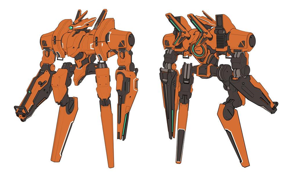 Orange Mech for Zombot Studios by Joshk92