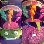 Halloween piece goods shopwindow - Frankenstein