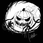 Psychara's Inktober day 3: Spoopy Pumpkin by SofusGirl