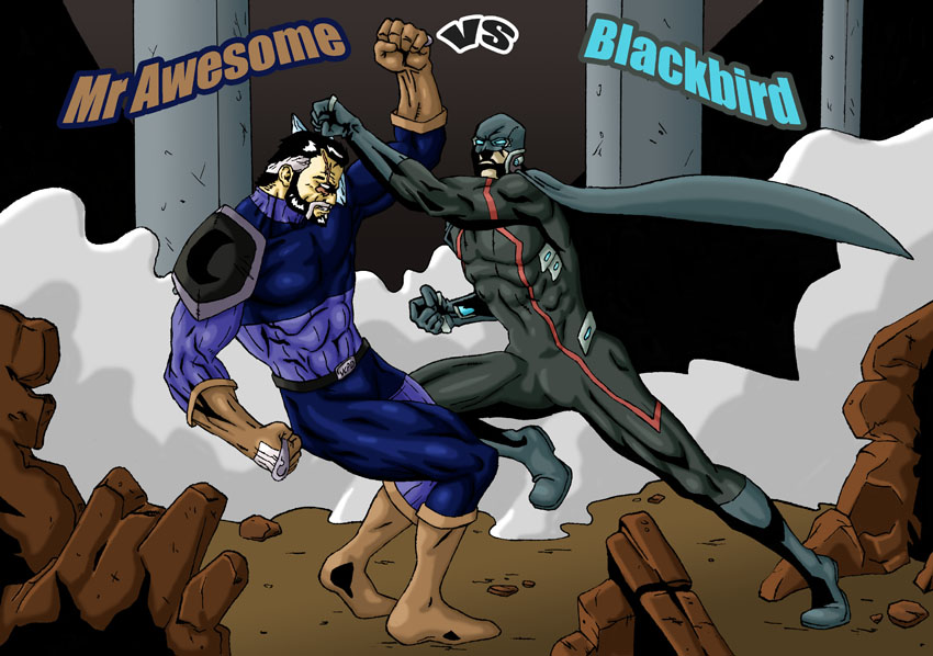Mr. Awesome vs Blackbird cover by Wolcik