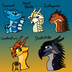 The dragonets of destiny DARK AU