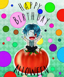 [Gift] Happy Birthday Alloween! by Lisari-Neon