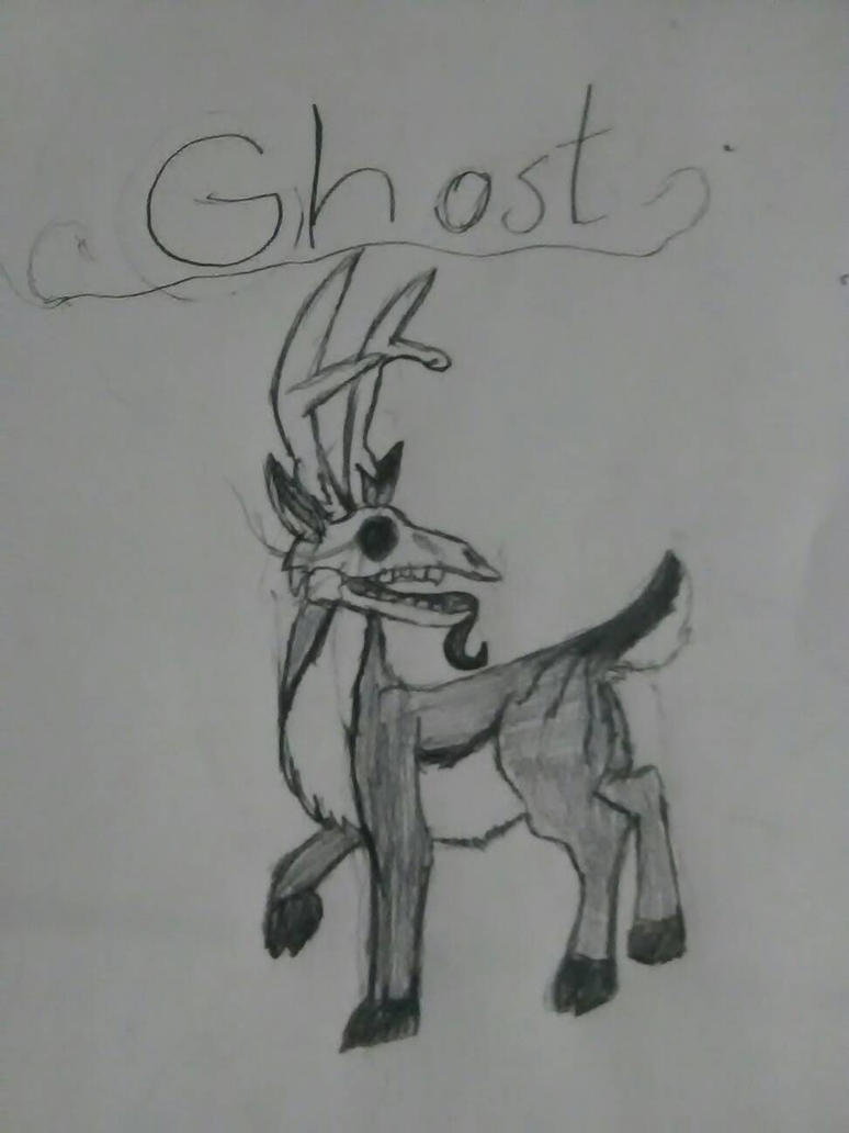 ghost the deer by foxythepirateart