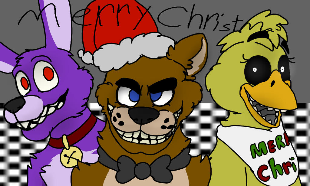 Fnaf Christmas.Merry Fnaf Christmas By Foxythepirateart On Deviantart