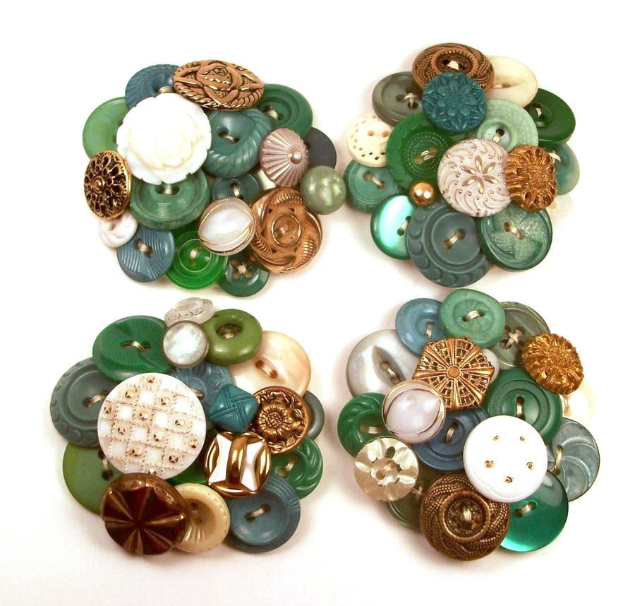 vintage button brooches wedding by annjepsen on deviantart