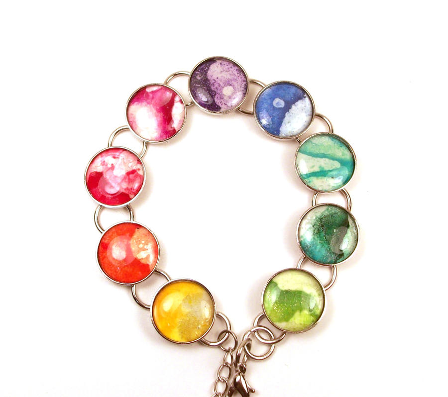 annjepsen deviantart color wheel on bracelet art melted crayon by
