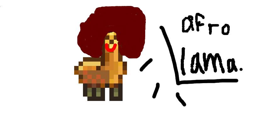 Llamas With Afros Llama with an a...