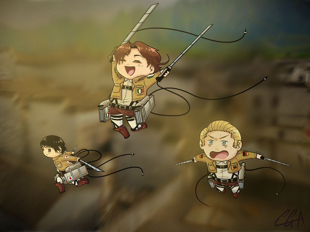 Attack on Hetalia by CassieRedPanda