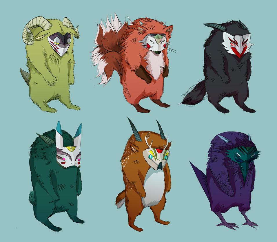 Kabuki Monsters by Emishly
