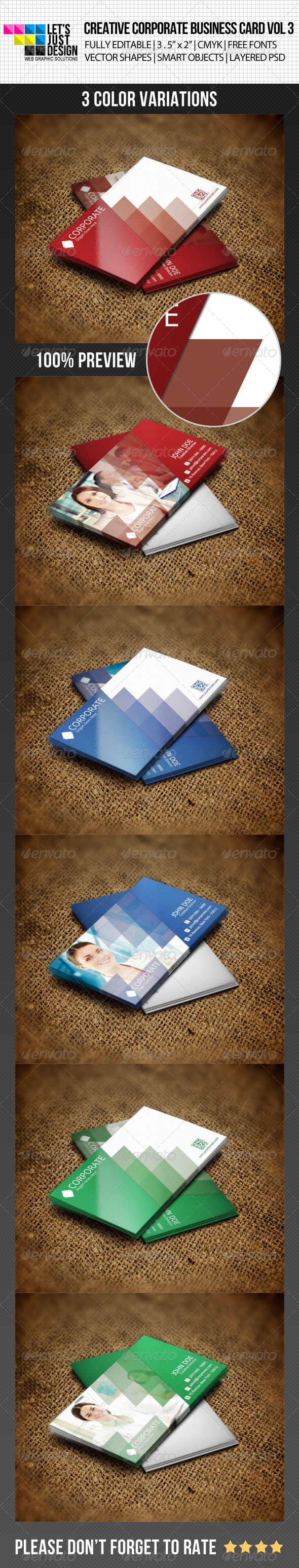 Creative Corporate Business Card Vol 3 by jasonmendes