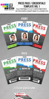 Press Pass Credentials Template Vol 1