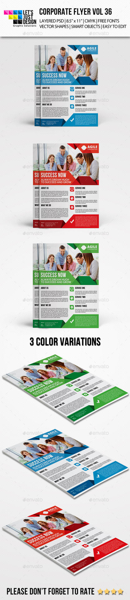 Corporate Flyer Template Vol 36 by jasonmendes