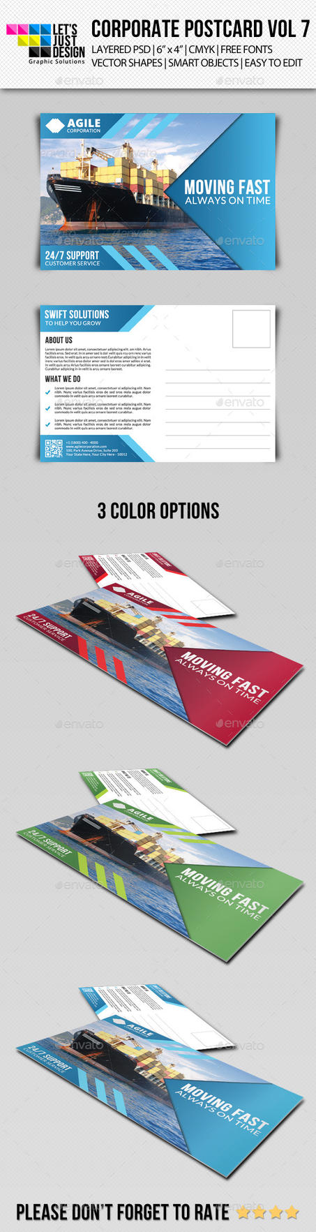 Corporate Postcard Template Vol 7 by jasonmendes