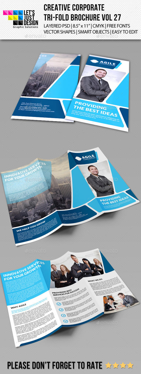 Creative Corporate Tri-Fold Brochure Vol 27 by jasonmendes