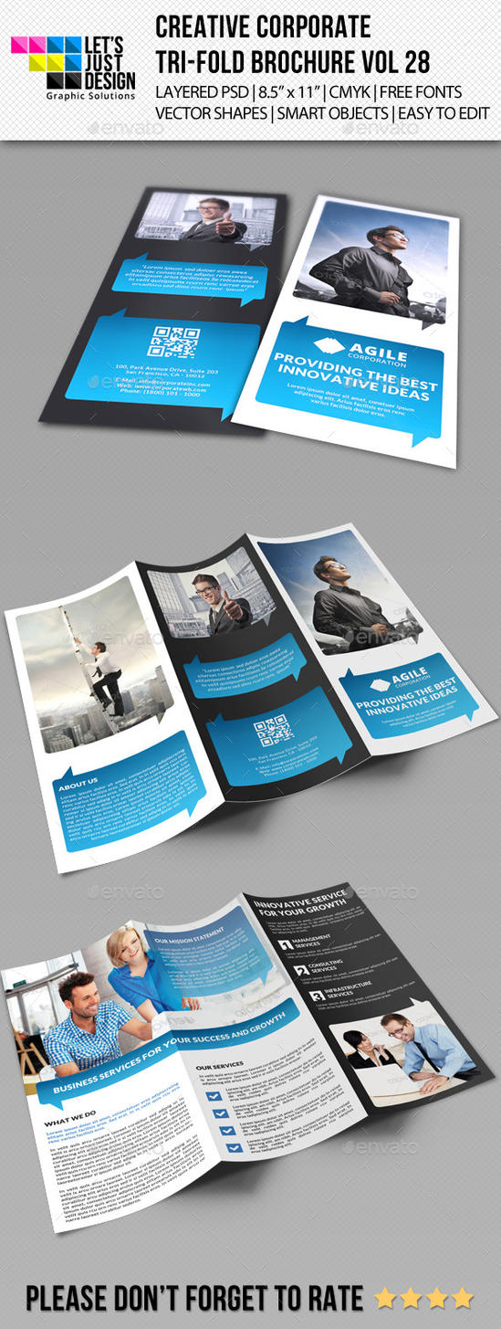 Creative Corporate Tri-Fold Brochure Vol 28 by jasonmendes