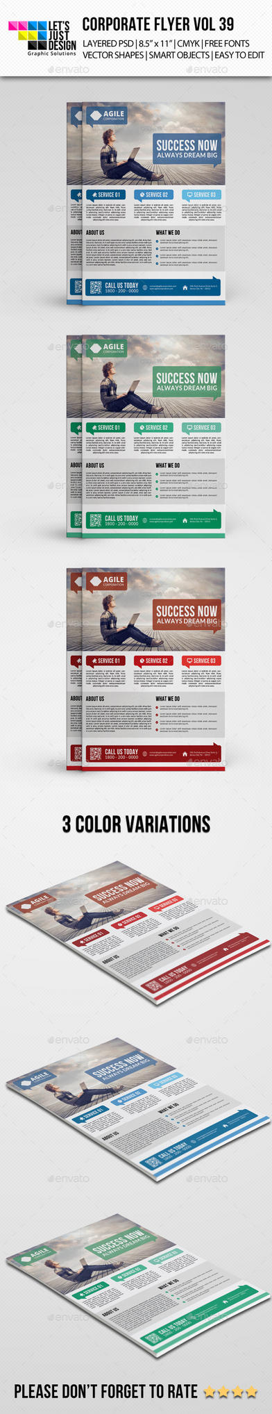 Corporate Flyer Template Vol 39 by jasonmendes