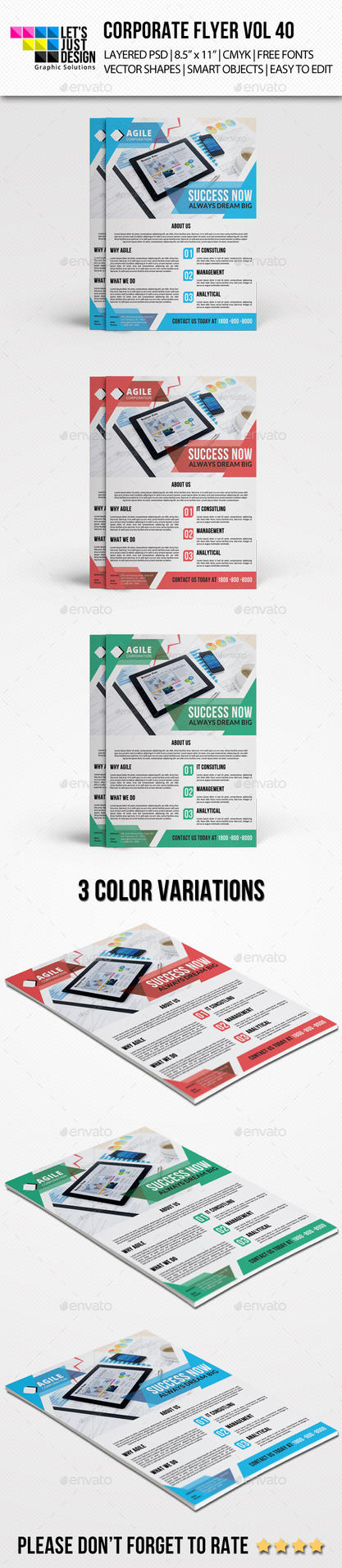 Corporate Flyer Template Vol 40 by jasonmendes