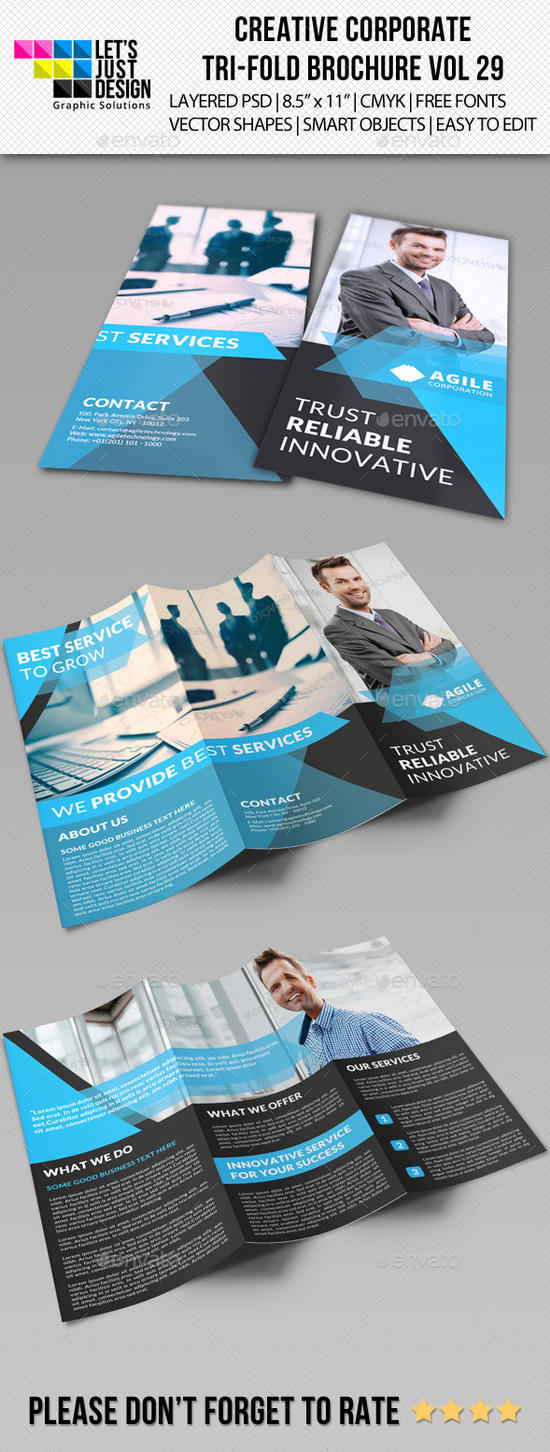Creative Corporate Tri-Fold Brochure Vol 29 by jasonmendes
