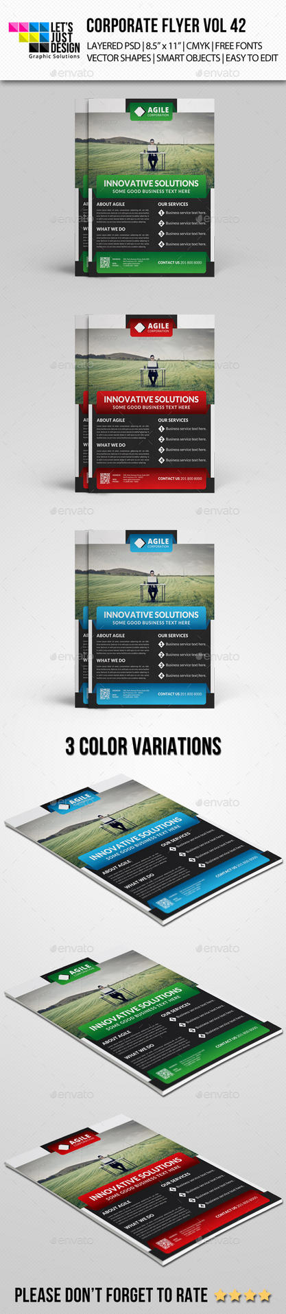 Corporate Flyer Template Vol 42 by jasonmendes