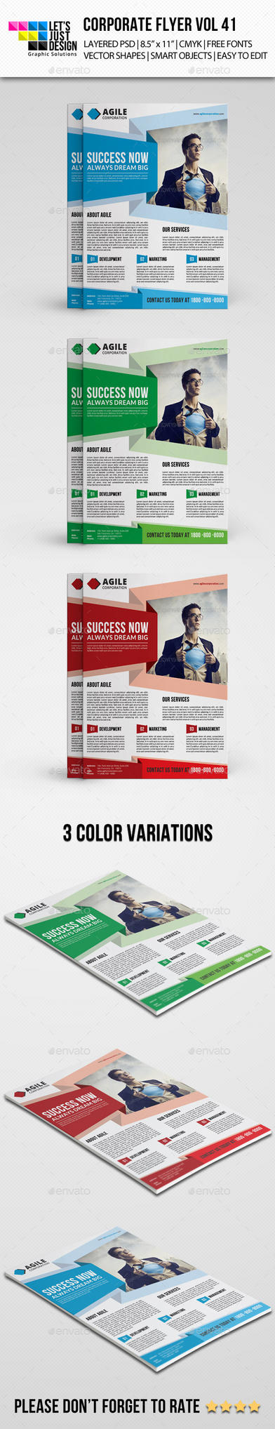 Corporate Flyer Template Vol 41 by jasonmendes