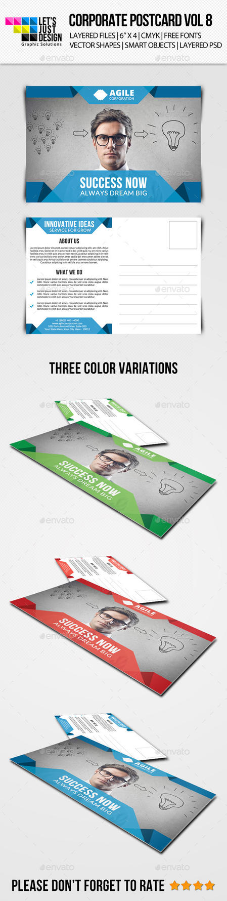 Corporate Postcard Template Vol 8 by jasonmendes