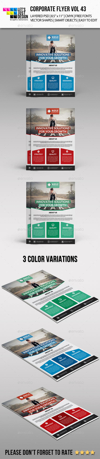 Corporate Flyer Template Vol 43 by jasonmendes