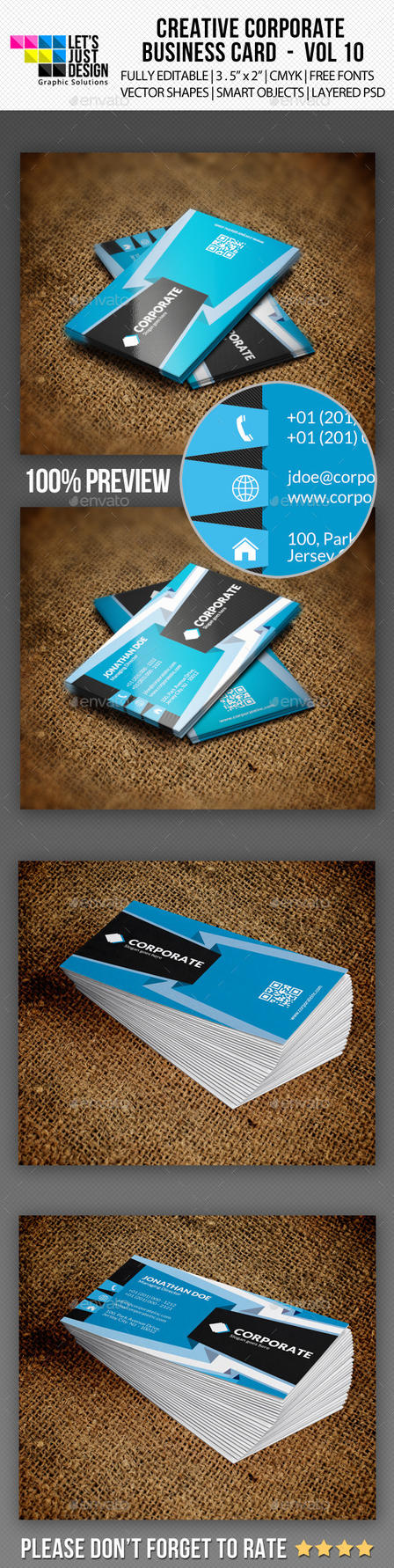 Corporate Business Card Vol 10 by jasonmendes