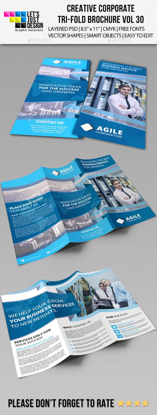 Creative Corporate Tri-Fold Brochure Vol 30 by jasonmendes