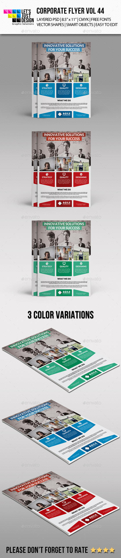 Corporate Flyer Template Vol 44 by jasonmendes