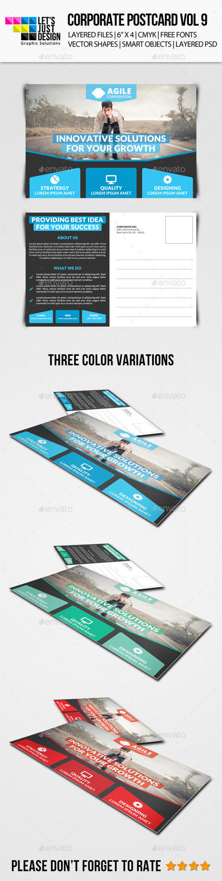 Corporate Postcard Template Vol 9 by jasonmendes