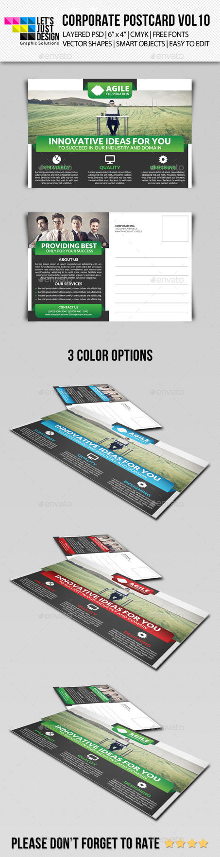 Corporate Postcard Template Vol 10 by jasonmendes
