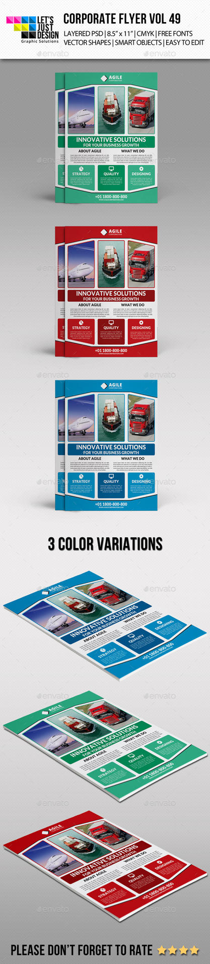 Corporate Flyer Template Vol 49 by jasonmendes