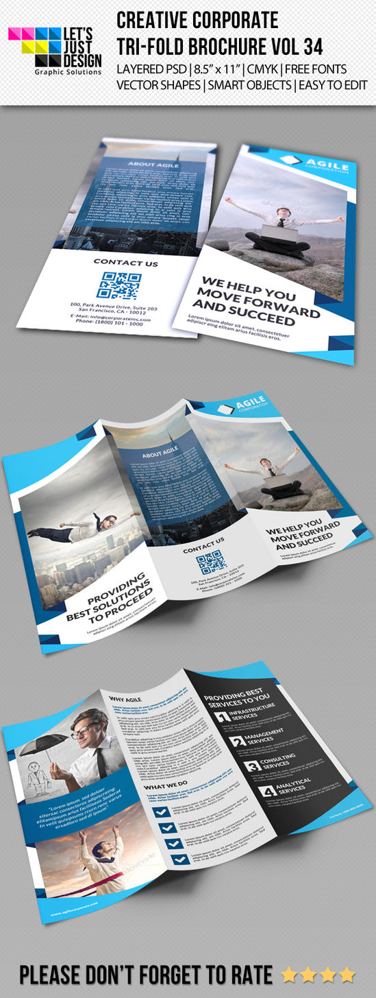 Creative Corporate Tri-Fold Brochure Vol 34 by jasonmendes