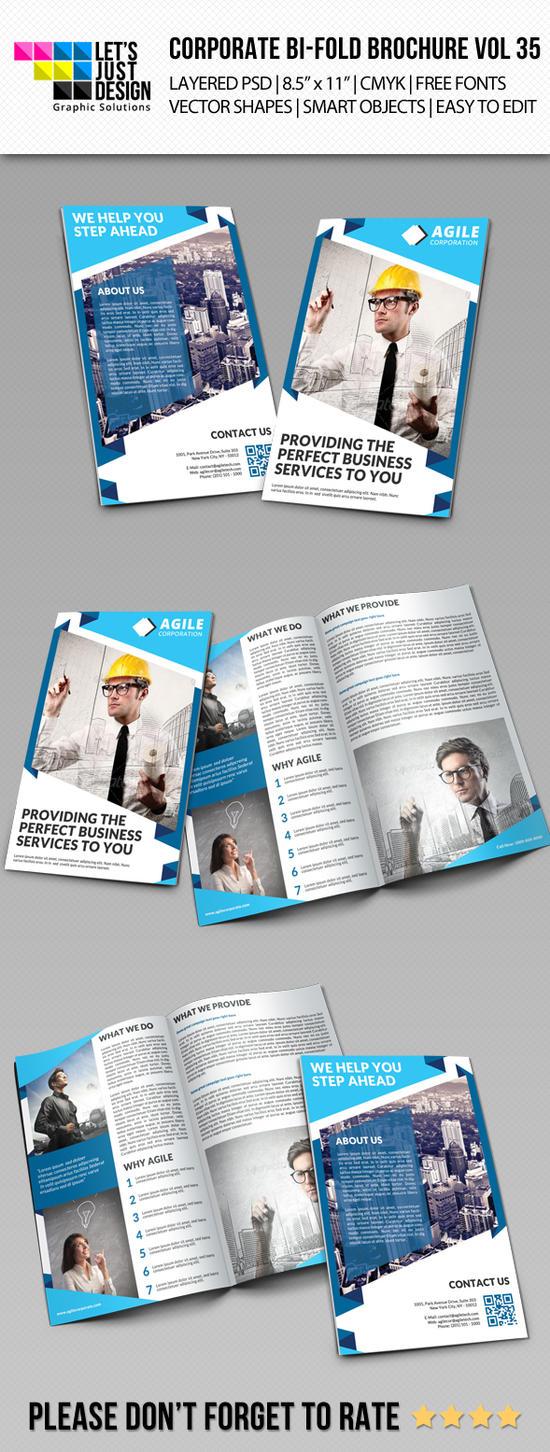 Creative Corporate Bi-Fold Brochure Vol 35 by jasonmendes