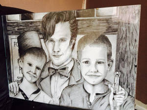 The Doctor and two Fan Boys