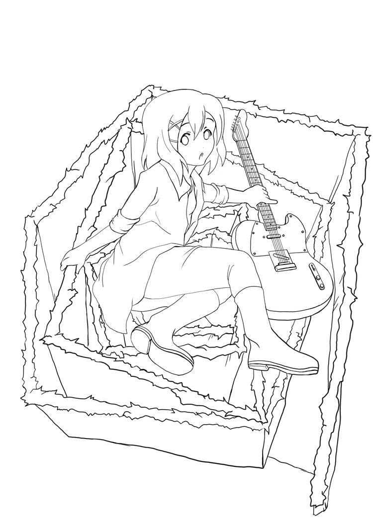 Line Art Hirasawa Yui : Lineart hirasawa yui ily by es jeruk on deviantart