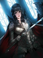 Female Knight by es-jeruk