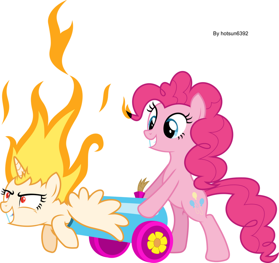 Flame Pinkie's Cannon by hotsun6392