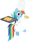 Baking confectionery Rainbow Dash by LiveHotsun