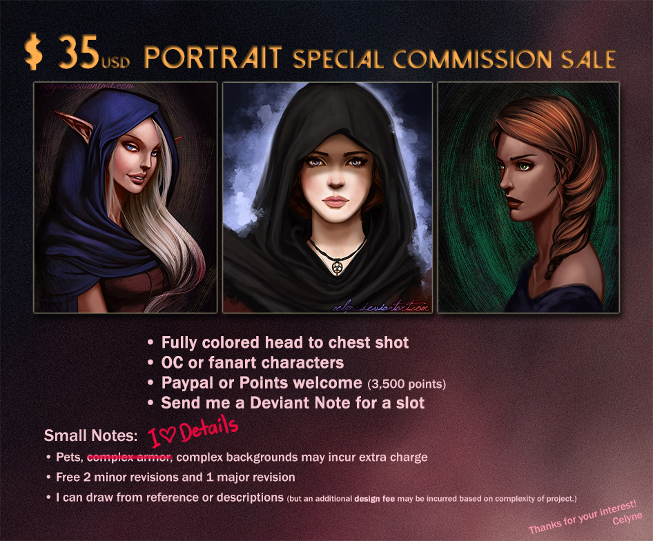 Commission Info: Special Sale (updated) by celyne