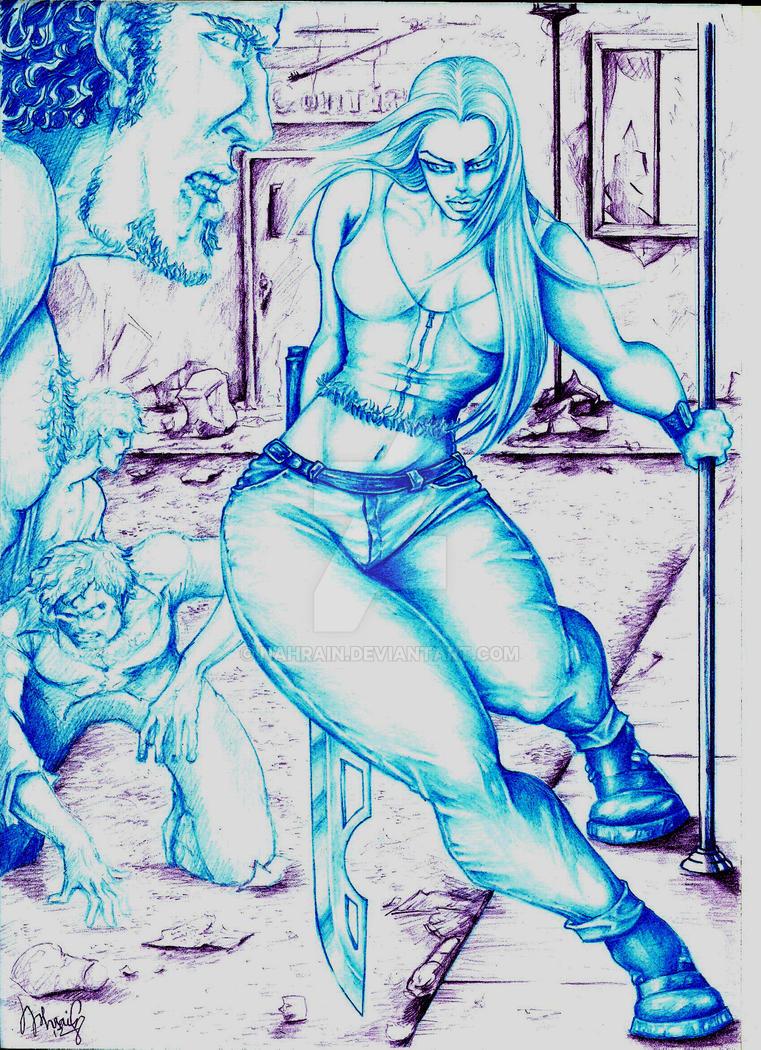 for the Fat Female Superhero contest by nahrain