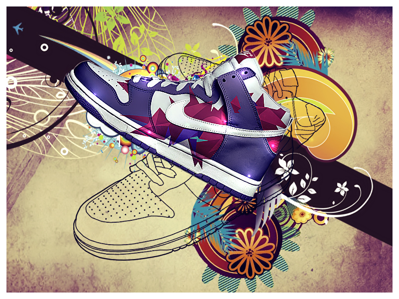 Nike Shoes Wallpaper By OnemicGfx