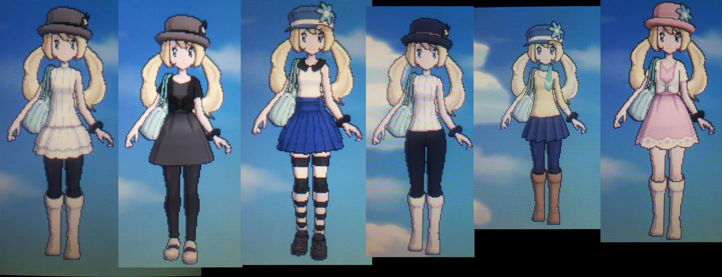Pokemon Y: my trainer outfits! by Catty-Mintgum on DeviantArt