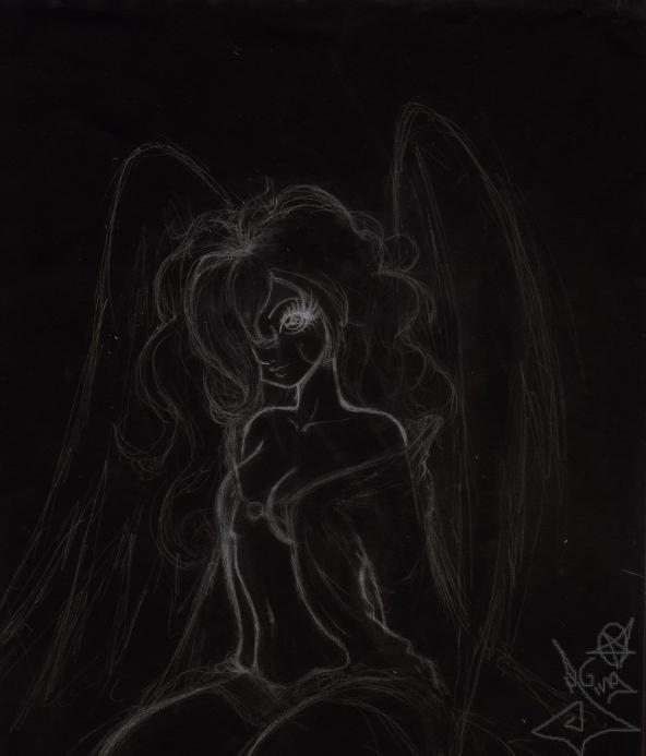 Dx Wallpaper: Naughty Angel In Black Dx By JingRagamuffin On DeviantArt
