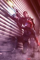 Shepard and Cerberus by F-elicia