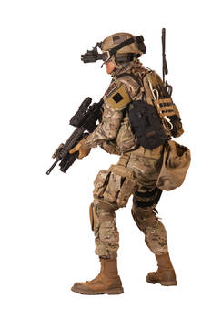 Military NVG Up (Multicam Kit)
