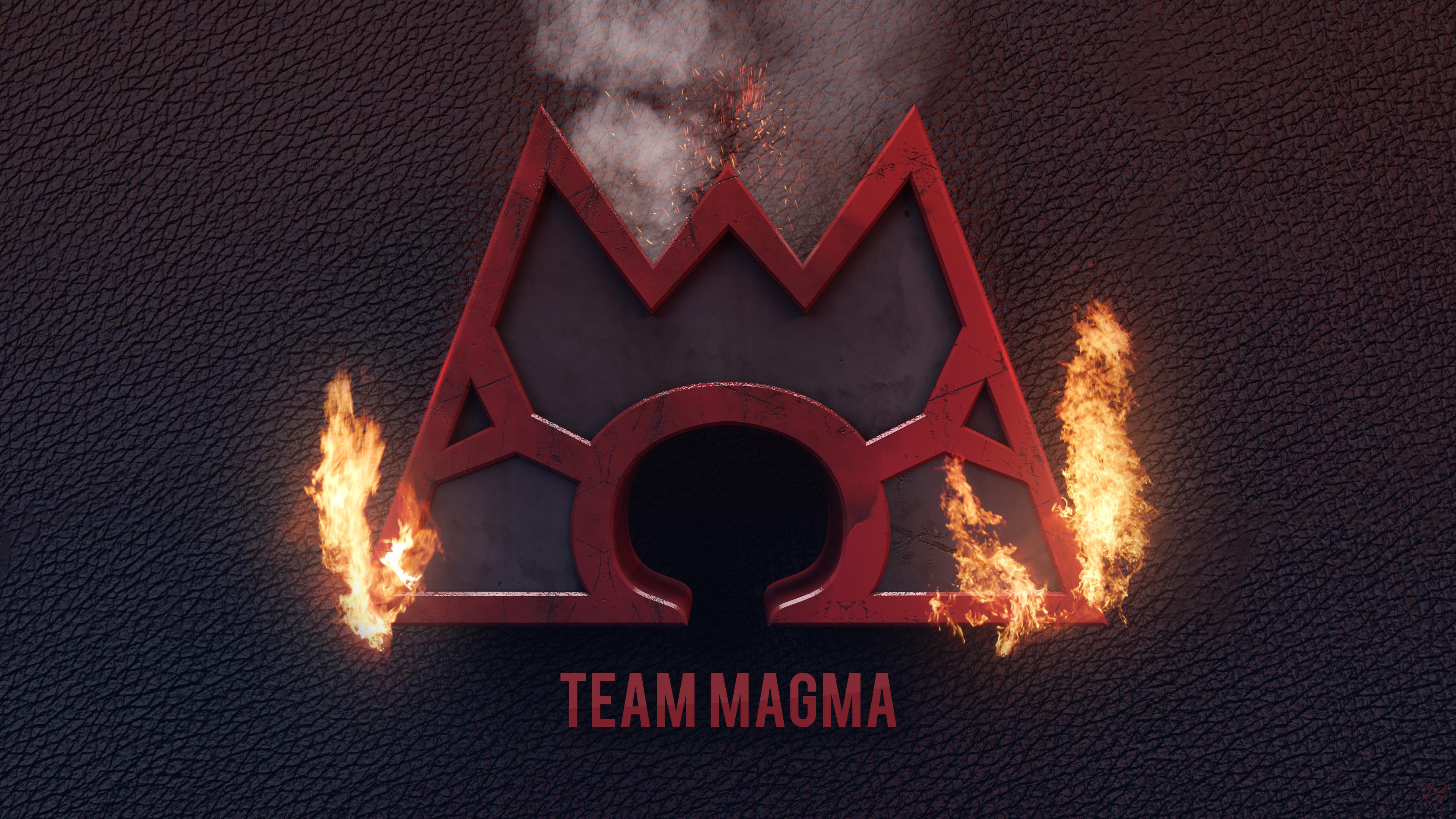 Pokemon Team Magma Logo Team magma 4k wallpaper byTeam Aqua Wallpaper