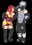 Kakashi and Rena by ichan-desu