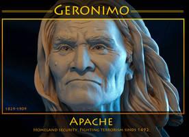 native american Geronimo by renemarcel27